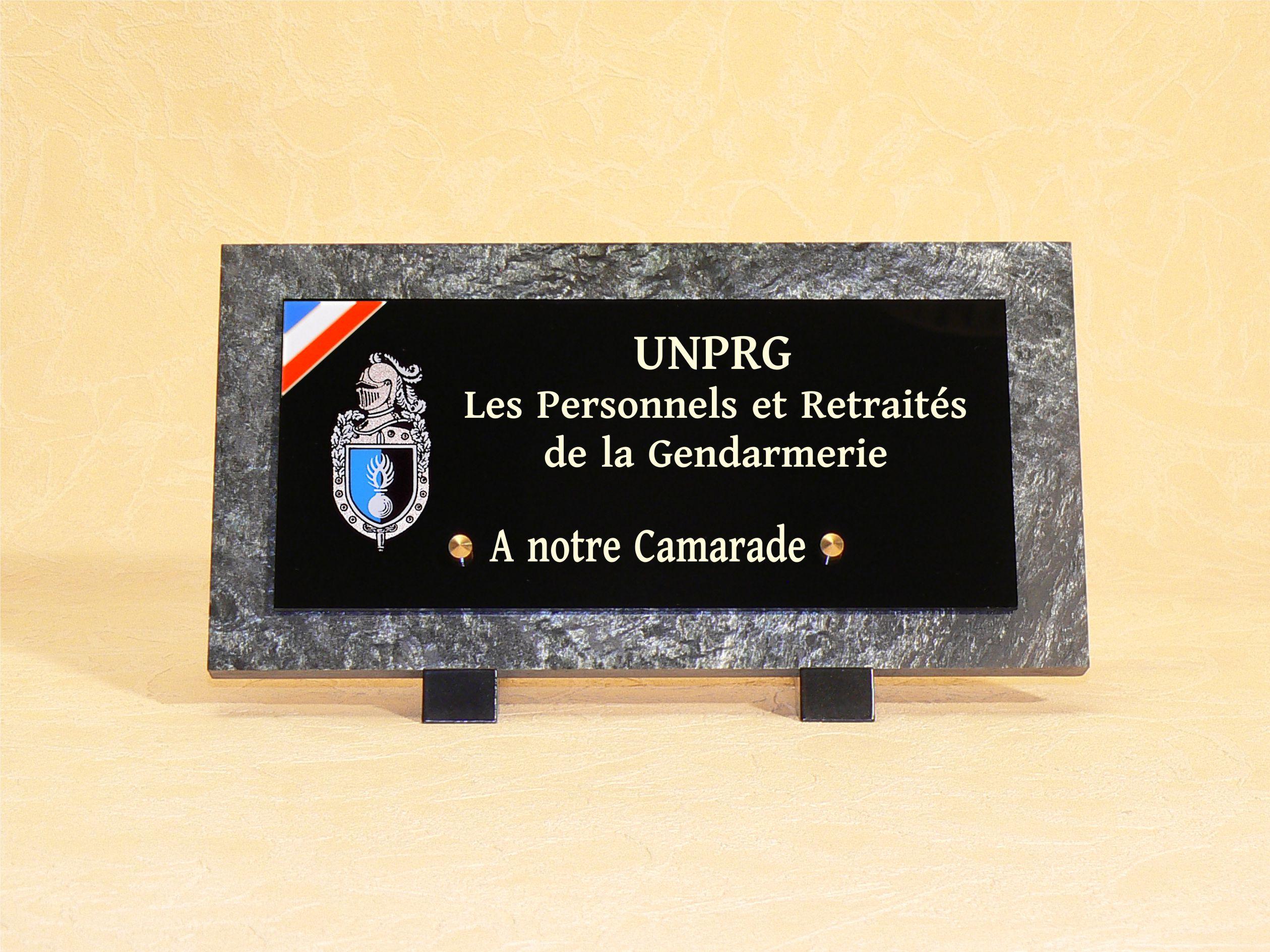 Plaques funéraires gendarmerie