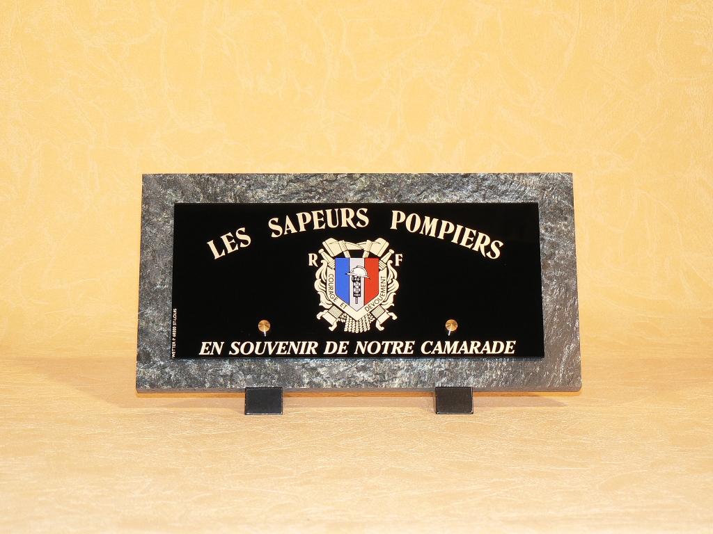 Plaques funéraires anciens sapeurs pompiers