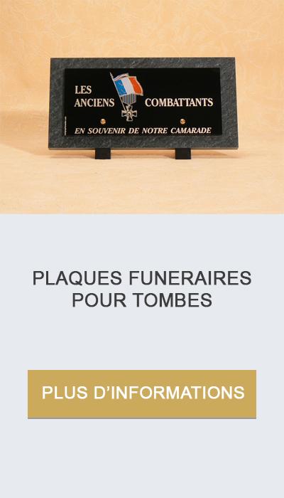 plaques funéraires pour tombes