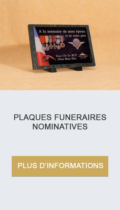 plaques funéraires nominatives