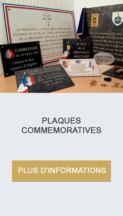 plaques commemoratives