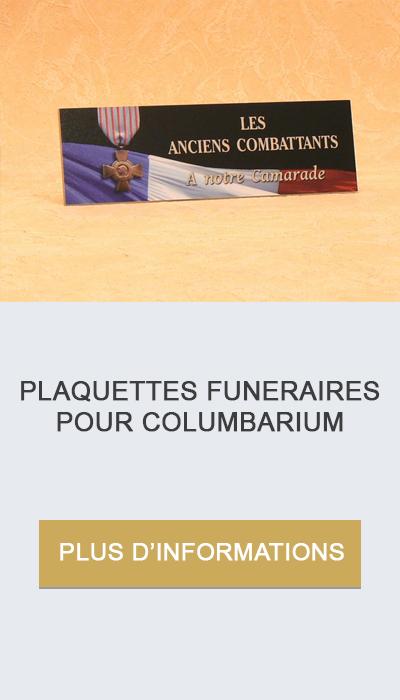 plaquettes pour columbarium