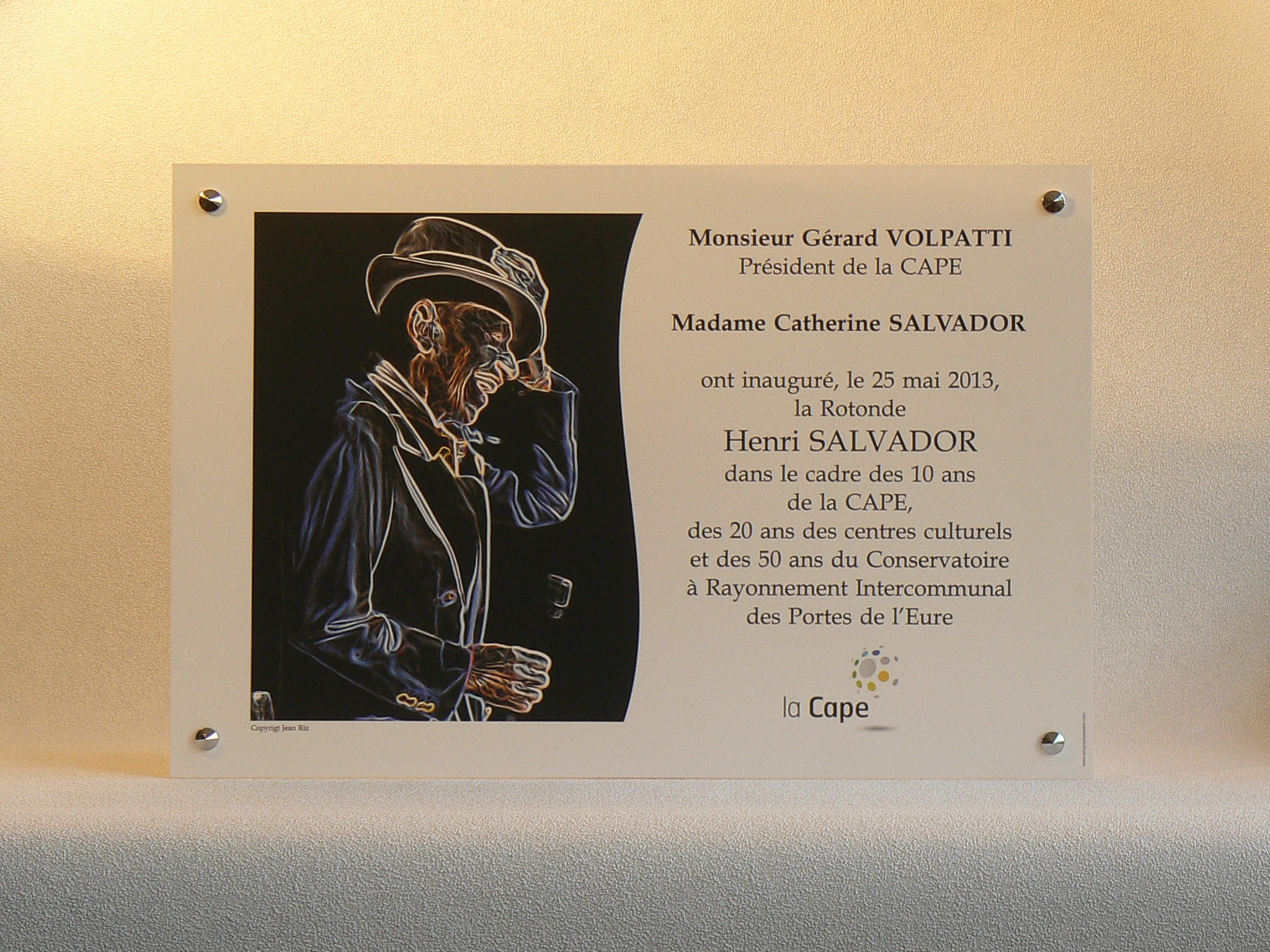 Plaques d'inaugurations