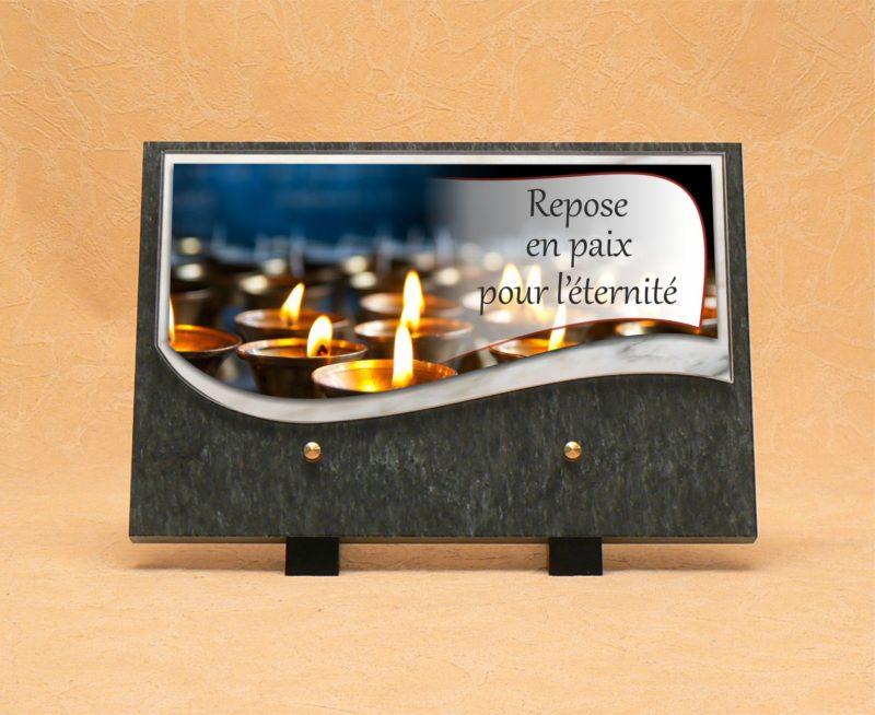 Plaque funéraire mortuaire pour décès