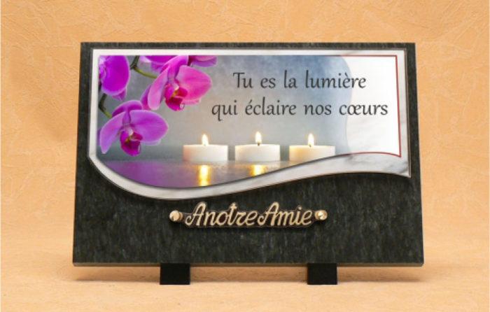 Plaques mortuaires pour tombes décès deuil