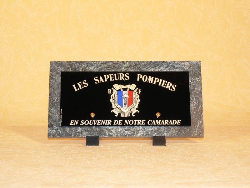 Plaques funéraires pour sapeurs-pompiers