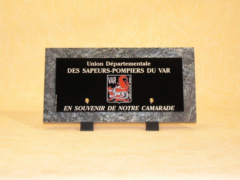 Plaques mortuaires pour sapeurs pompiers