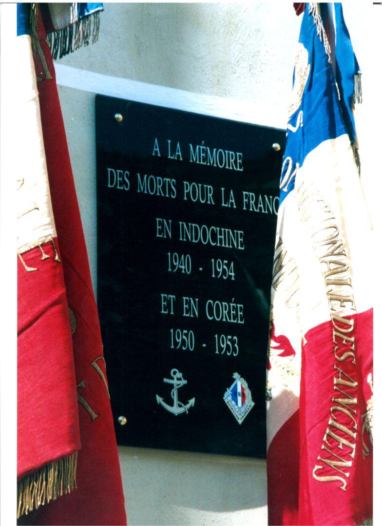 Plaque commémorative morts pour la France