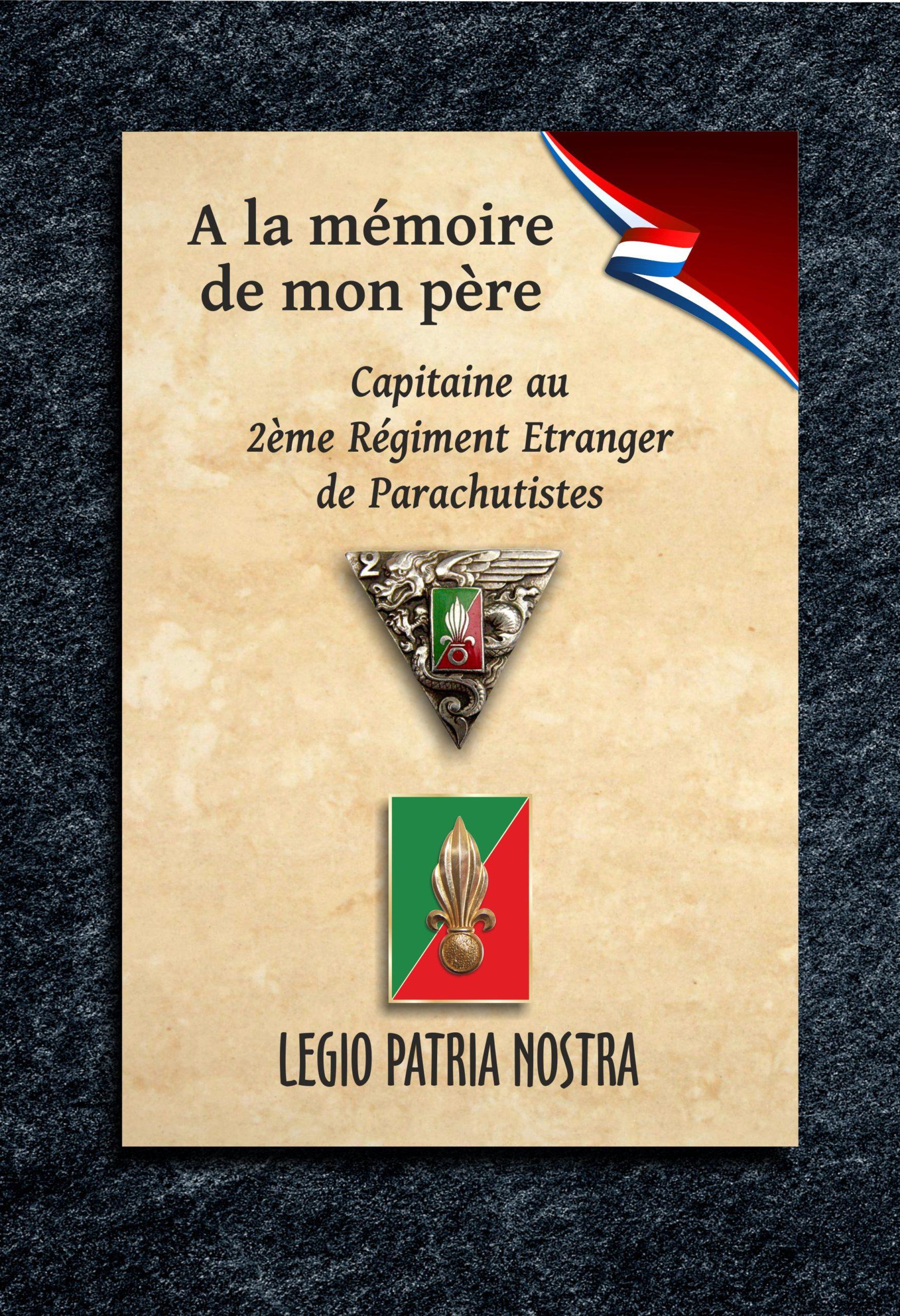 Plaque funéraire mortuaire commémorative