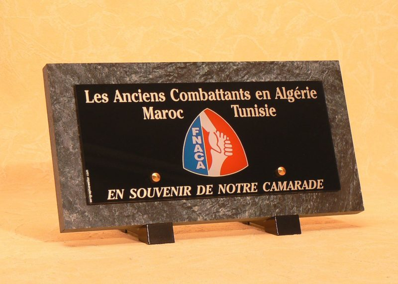 Plaque funéraire anciens combattants FNACA