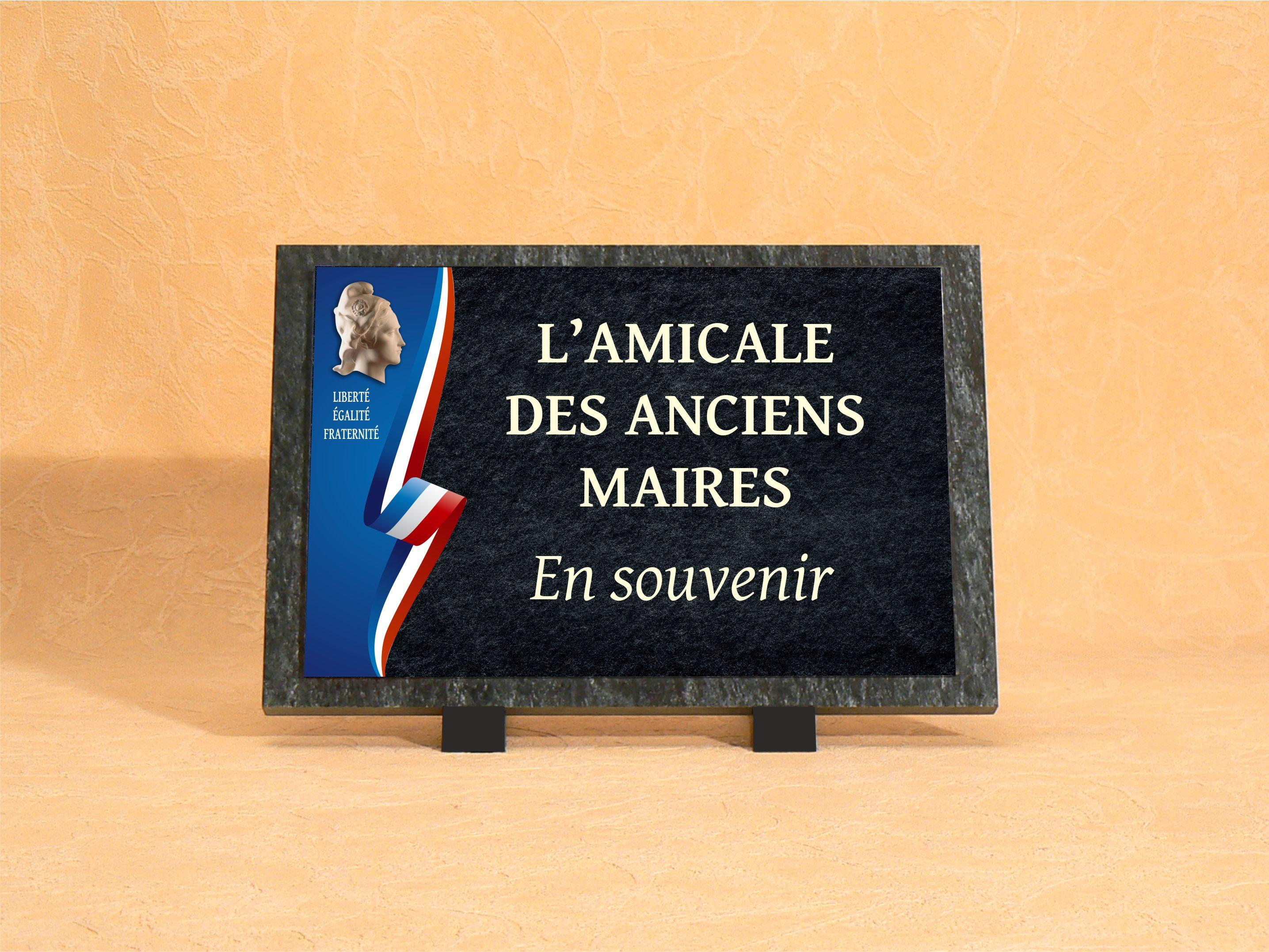 plaque funéraire ancien maire